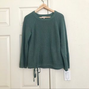 Madewell Waffle Knit Flare Bell Sleeve Sweater